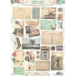 Papír A4 Vintage Carte Postale (SL)
