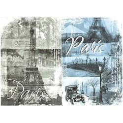 Papír rýžový A4 Paris, dva obrázky