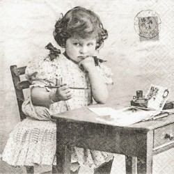 Zamyšlené děvčátko 33x33