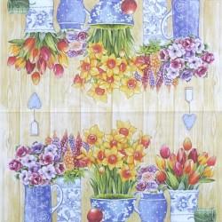 Hrnkové květiny 33x33