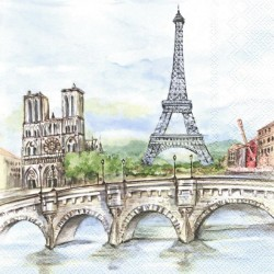 Památky Paříže malované 33x33