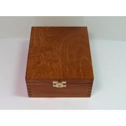 Krabička na čaj 4 komory, kování - olše