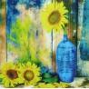 Reprodukce obrazu 25x25 - Sunflower Theme V