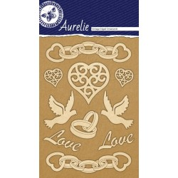 Sada kartonových výřezů Aurelie - Svatební