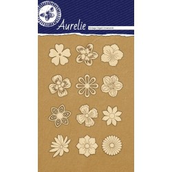 Sada kartonových výřezů Aurelie - kytičky