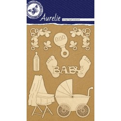 Sada kartonových výřezů Aurelie - Pro miminko