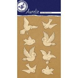 Sada kartonových výřezů Aurelie - Ptáčci