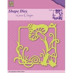 Vyřezávací šablona - rámeček s houbičkami Shape Dies