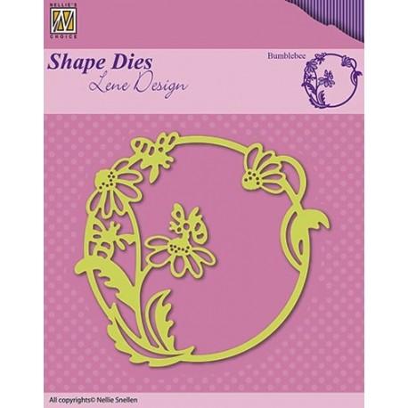 Vyřezávací šablona - rámeček s včelkami Shape Dies