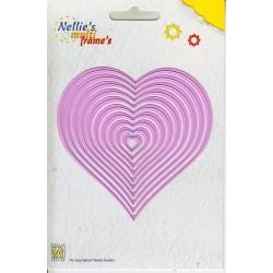 Vyřezávací šablony - srdce 10ks Nellie´s Multi Frame´s