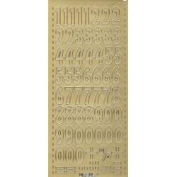 Samolepky číslice 2,1cm - zlaté