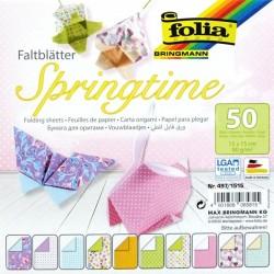 Origami papírky 15x15 Jarní