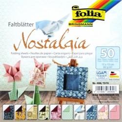Origami papírky 15x15 Nostalgia