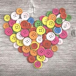 Srdce z knoflíčků 33x33