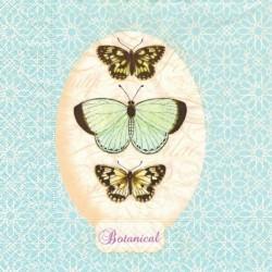 Tři motýli 33x33