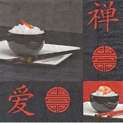 Orient, černočervený 33x33