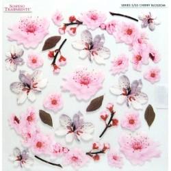Sospeso folie 24x24 - květy třešně nové