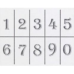 Šablona - Číslice, vel. A4