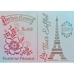 Šablona - Paris & Eiffel, vel. A4