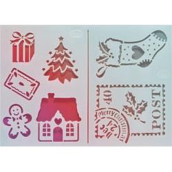 Šablona - Malé vánoční motivy, vel. A5