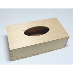 Poklop - dřevěná krabička na kapesníky s dnem (NEM)