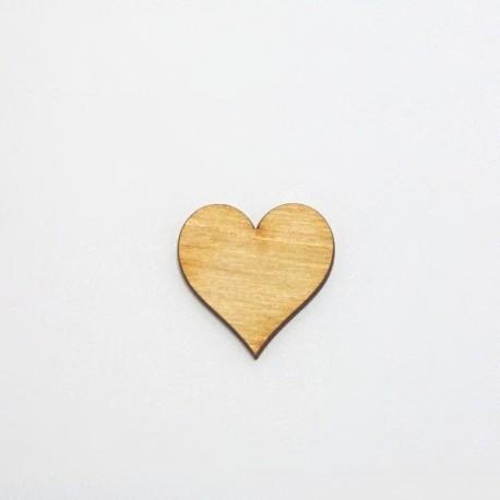 Dřev.dekorace - srdíčko 3cm buclaté