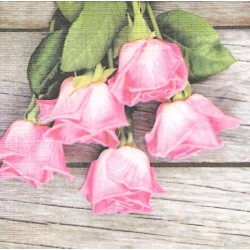 Poupata růží na prknech 33x33