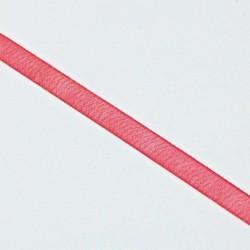Stuha šifónová 6mm - červená