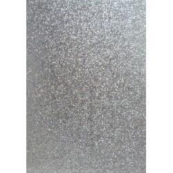 Moosgumi list 20x29cm třpytivá stříbrná samolepící