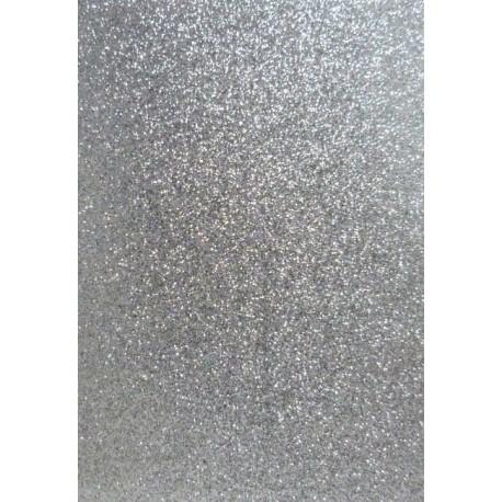 Moosgumi list 20x29cm třpytivá stříbrná