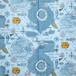 Carte Des Oceans v modrošedé 33x33