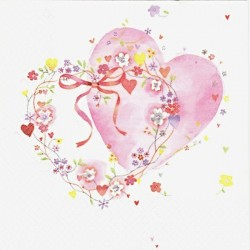 Dvě spojená srdce 33x33