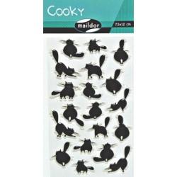 Samolepky Cooky - Kočky černé