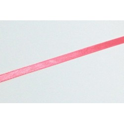 Stuha saténová 6mm - růžovooranžová