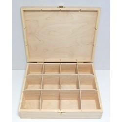 Krabička na čaj 12 komor (se zámečkem) - menší