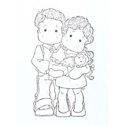 Razítko Magnolia - Mladá rodina