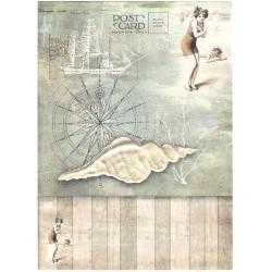Papír rýžový A4 Letní motiv, ulita