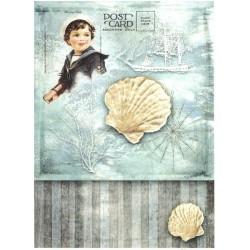 Papír rýžový A4 Letní motiv, lastura