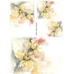 Papír rýžový A4 Arnika žlutá