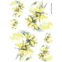 Papír rýžový A4 Arnika žlutá 2