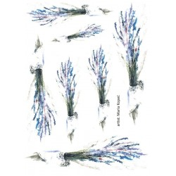Papír rýžový A4 Levandule akvarel