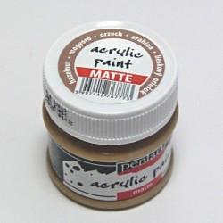 Akrylová barva Pentart 50ml - oříšková, matná