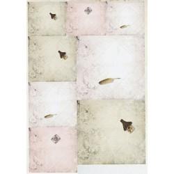 Papírové výřezy 3D - mini obálky (bílá,zelená,růžová)