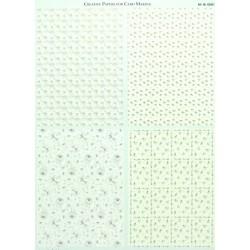 Papír na pozadí A4 - čtyři vzory domodra