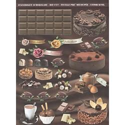 Papírové výseky - Čokoláda