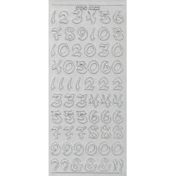 Kontury Číslice ozdobné stříbrné