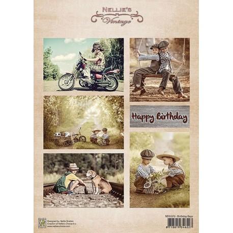Nellie Vintage A4 - narozeniny, chlapci