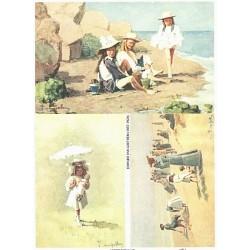 Papír rýžový A4 Edward van Goethem, na pláži 1