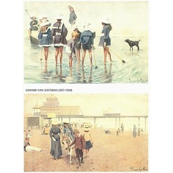 Papír rýžový A4 Edward van Goethem, na pláži 2