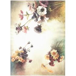 Papír rýžový A4 Tři kytičky květů